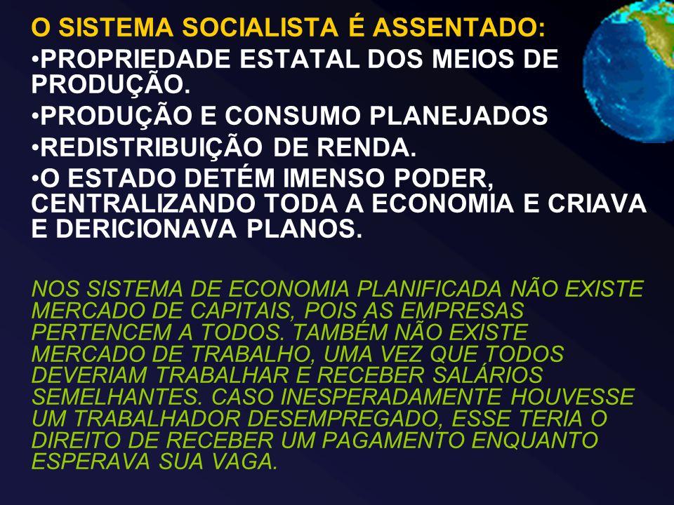 O SISTEMA SOCIALISTA É ASSENTADO: PROPRIEDADE ESTATAL DOS MEIOS DE PRODUÇÃO.