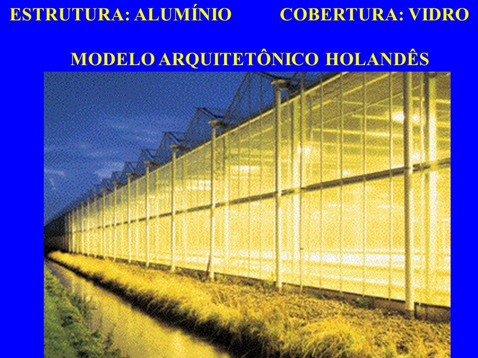 ESTRUTURA: ALUMÍNIO COBERTURA: VIDRO MODELO ARQUITETÔNICO HOLANDÊS