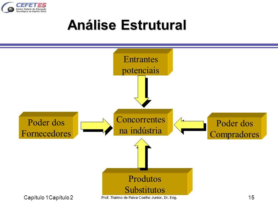 Capítulo 1Capítulo 2 Prof. Thalmo de Paiva Coelho Junior, Dr. Eng. 15 Análise Estrutural Poder dos Fornecedores Entrantes potenciais Concorrentes na i