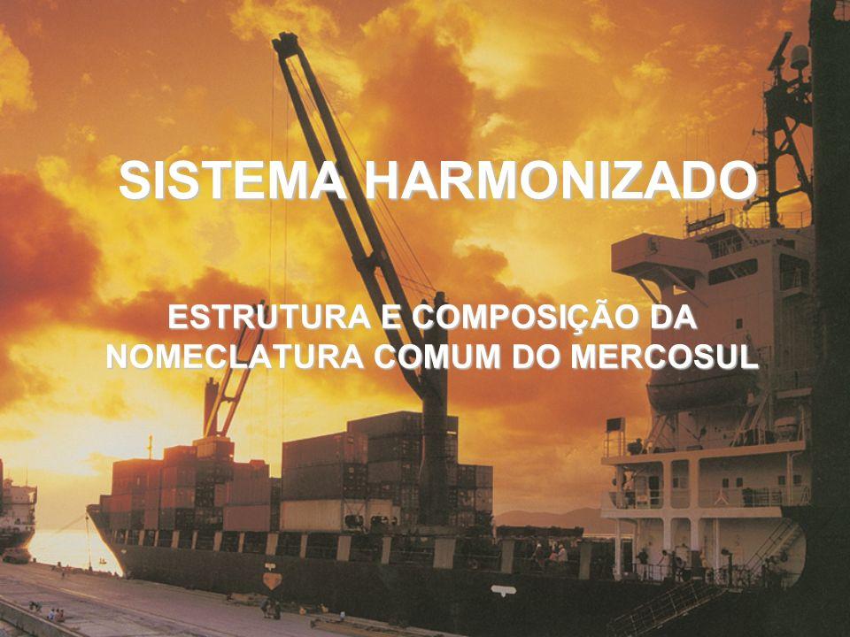 SISTEMA HARMONIZADO ESTRUTURA E COMPOSIÇÃO DA NOMECLATURA COMUM DO MERCOSUL