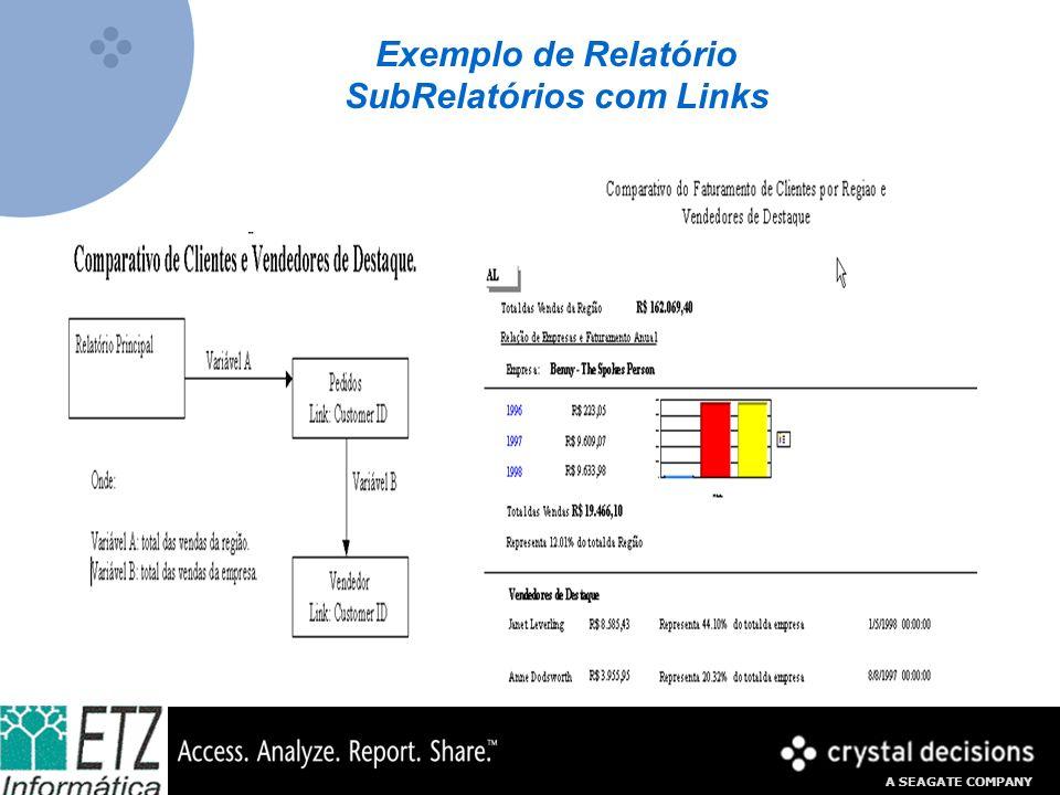 A SEAGATE COMPANY Exemplo de Relatório SubRelatórios com Links
