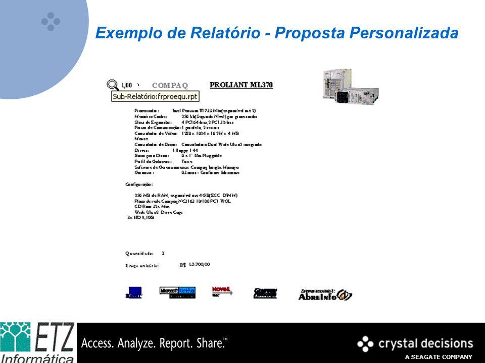 A SEAGATE COMPANY Exemplo de Relatório - Proposta Personalizada