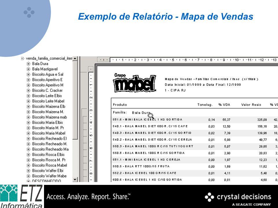 A SEAGATE COMPANY Exemplo de Relatório - Mapa de Vendas