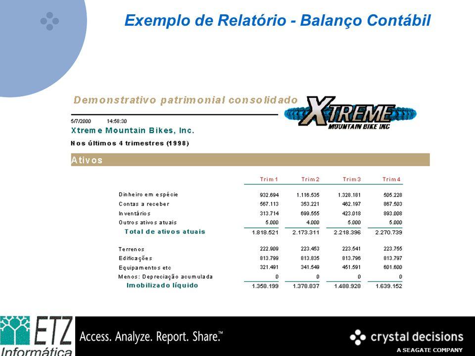 A SEAGATE COMPANY Exemplo de Relatório - Balanço Contábil