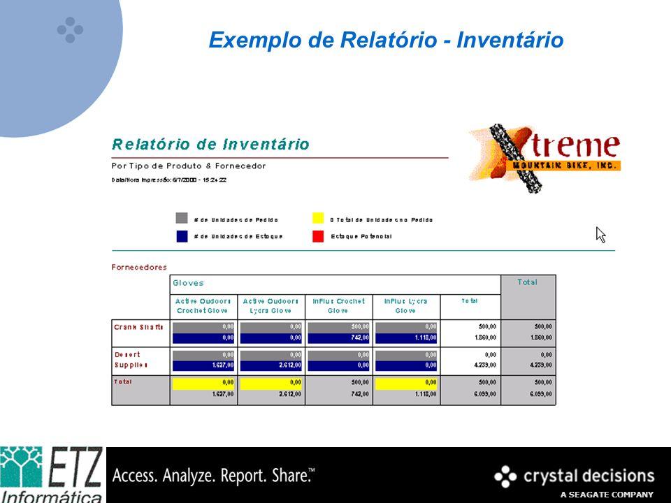 A SEAGATE COMPANY Exemplo de Relatório - Inventário