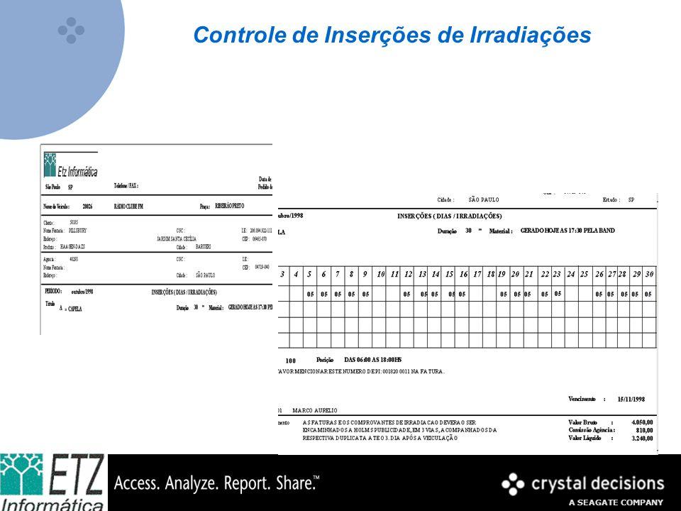 Controle de Inserções de Irradiações