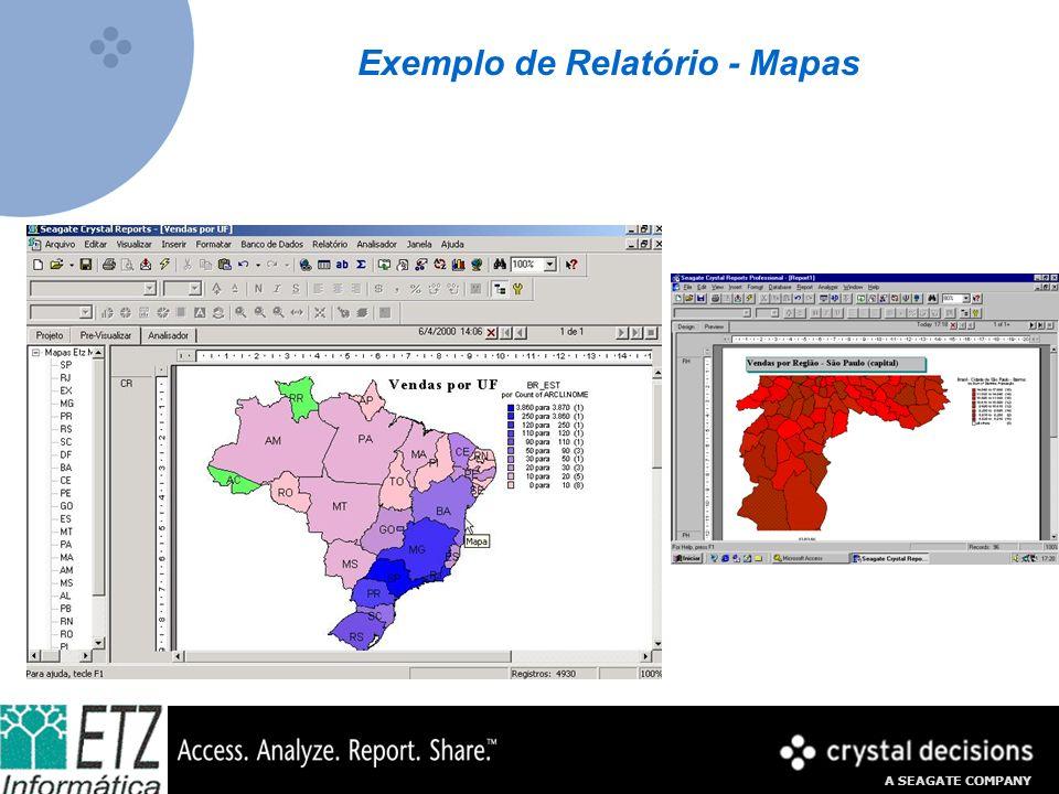 A SEAGATE COMPANY Exemplo de Relatório Tipos de Gráficos Disponíveis