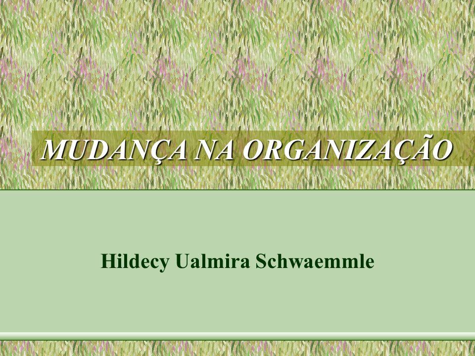 MUDANÇA NA ORGANIZAÇÃO Hildecy Ualmira Schwaemmle