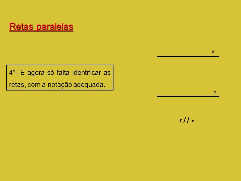 4º- E agora só falta identificar as retas, com a notação adequada. t v t // v