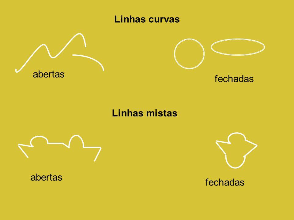 Linhas curvas fechadas abertas Linhas mistas abertas fechadas