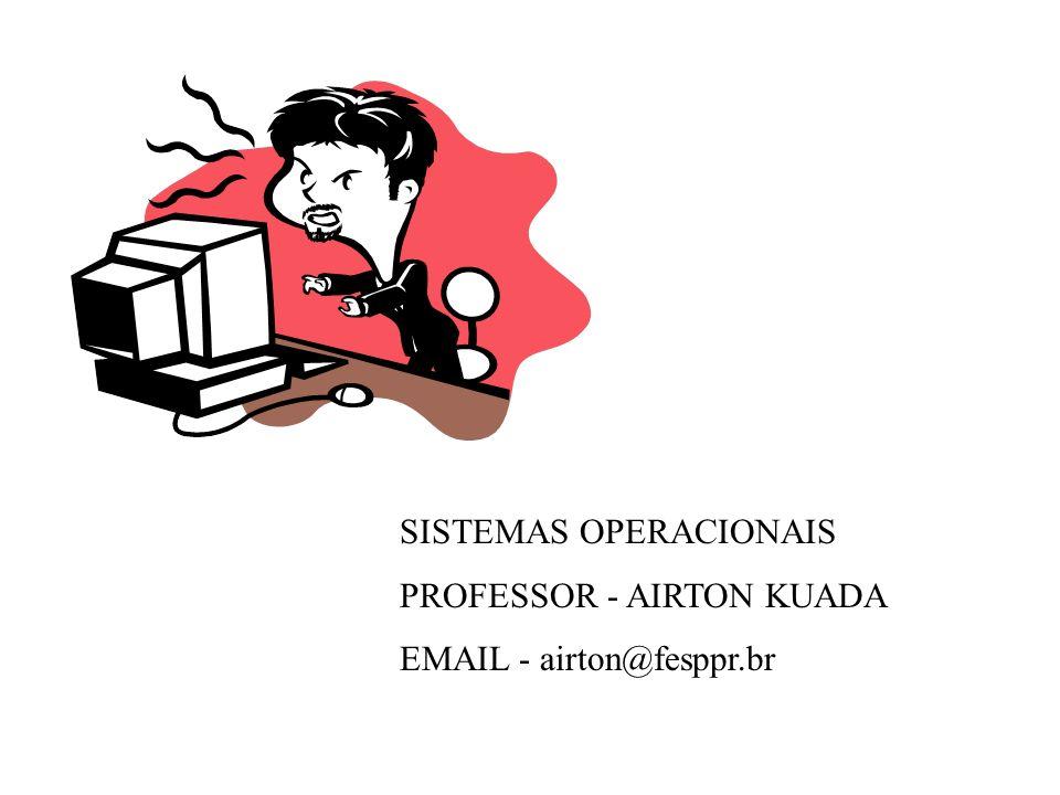 SISTEMAS OPERACIONAIS PROFESSOR - AIRTON KUADA EMAIL - airton@fesppr.br
