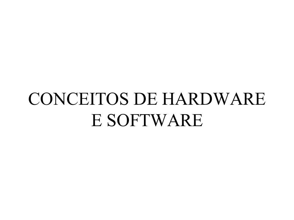CONCEITOS DE HARDWARE E SOFTWARE