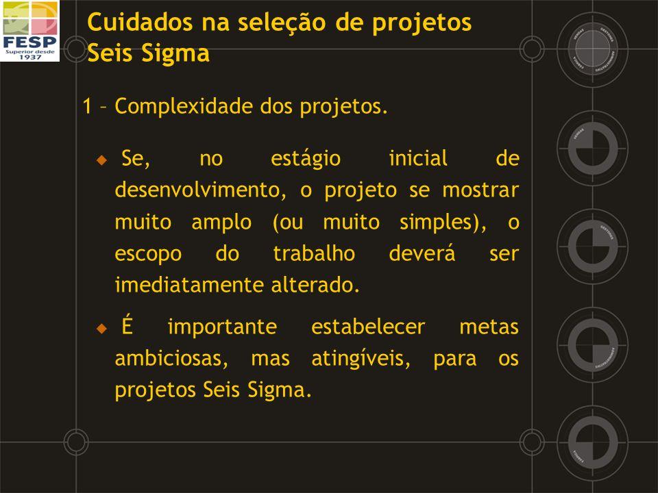 1 – Complexidade dos projetos. Se, no estágio inicial de desenvolvimento, o projeto se mostrar muito amplo (ou muito simples), o escopo do trabalho de