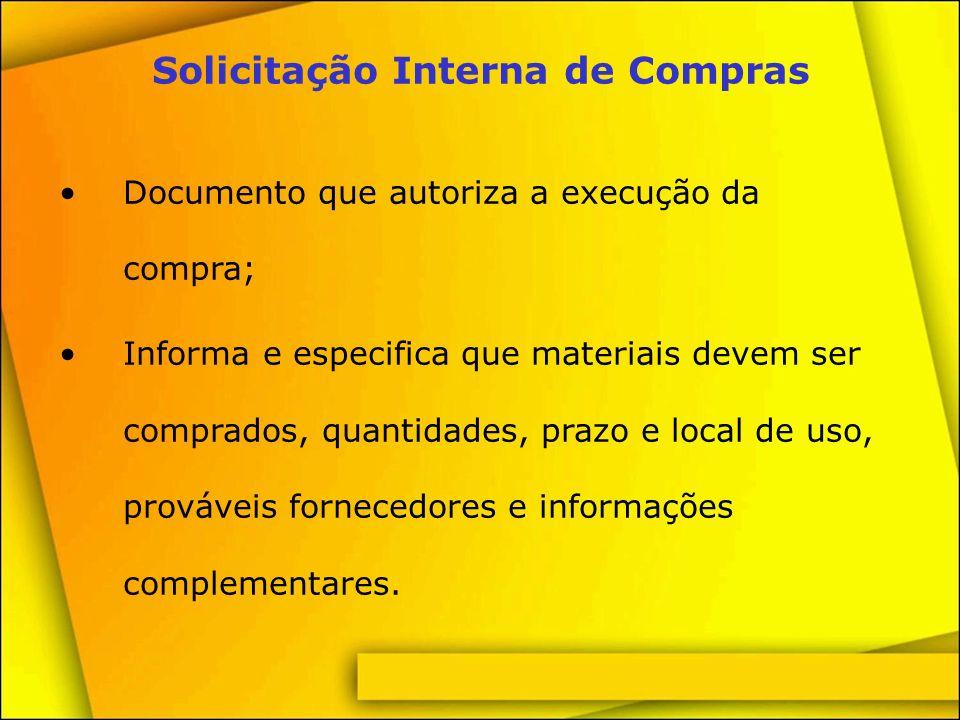 Documento de solicitação e acompanhamento de compras