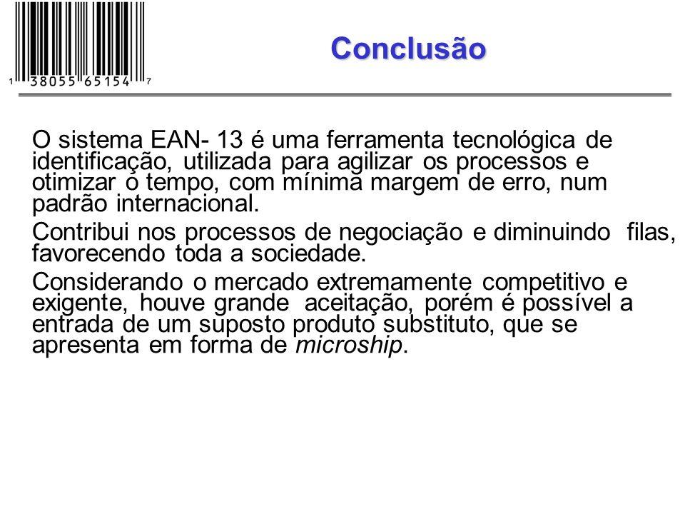 O sistema EAN- 13 é uma ferramenta tecnológica de identificação, utilizada para agilizar os processos e otimizar o tempo, com mínima margem de erro, n