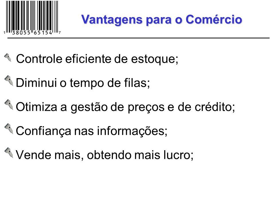 Cupom fiscal detalhado; Diminuição de filas; Preço correto; Melhores serviços; Vantagens para O Consumidor