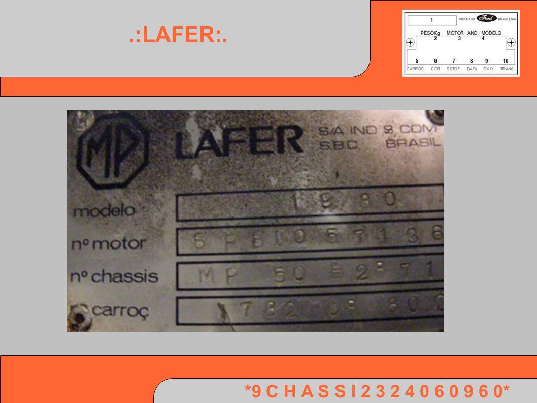 *9 C H A S S I 2 3 2 4 0 6 0 9 6 0*.:LAFER:.