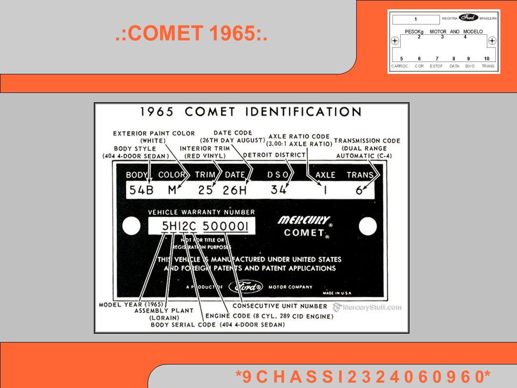 *9 C H A S S I 2 3 2 4 0 6 0 9 6 0*.:COMET 1965:.