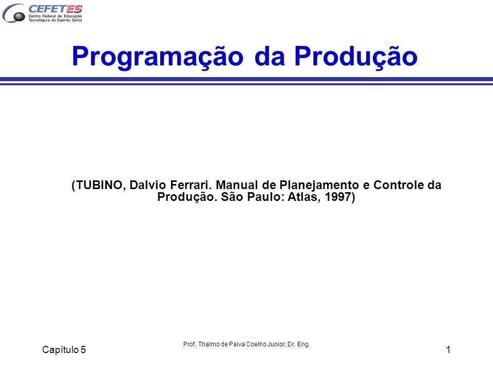 Capítulo 5 Prof. Thalmo de Paiva Coelho Junior, Dr. Eng. 1 Programação da Produção (TUBINO, Dalvio Ferrari. Manual de Planejamento e Controle da Produ