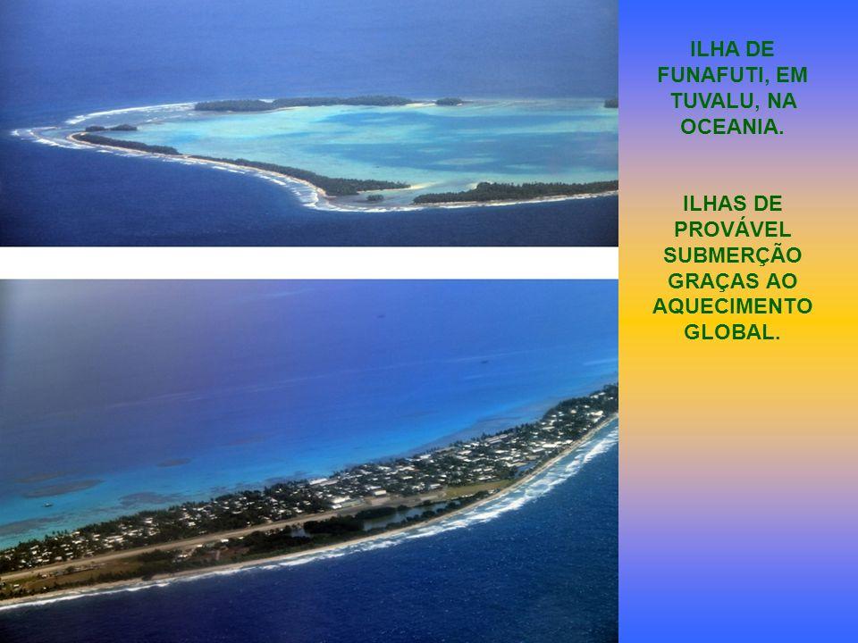 ILHA DE FUNAFUTI, EM TUVALU, NA OCEANIA. ILHAS DE PROVÁVEL SUBMERÇÃO GRAÇAS AO AQUECIMENTO GLOBAL.