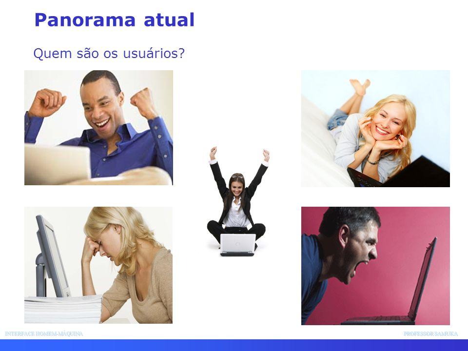 INTERFACE HOMEM-MÁQUINA PROFESSOR SAMUKA - Orientada a janela, interfaces de apontar e apanhar (point and pick interfaces).