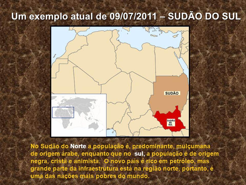 No Sudão do Norte a população é, predominante, mulçumana de origem árabe, enquanto que no sul, a população é de origem negra, cristã e animista.