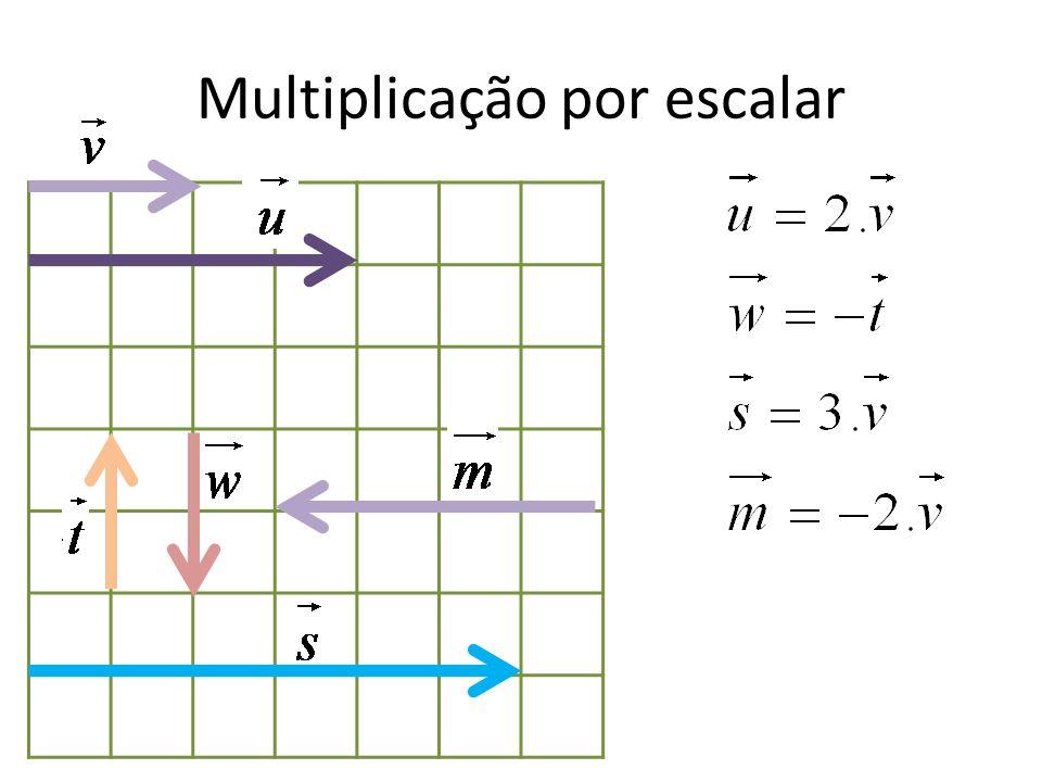 Outras Operações com vetores Multiplicação por escalar e vetor oposto