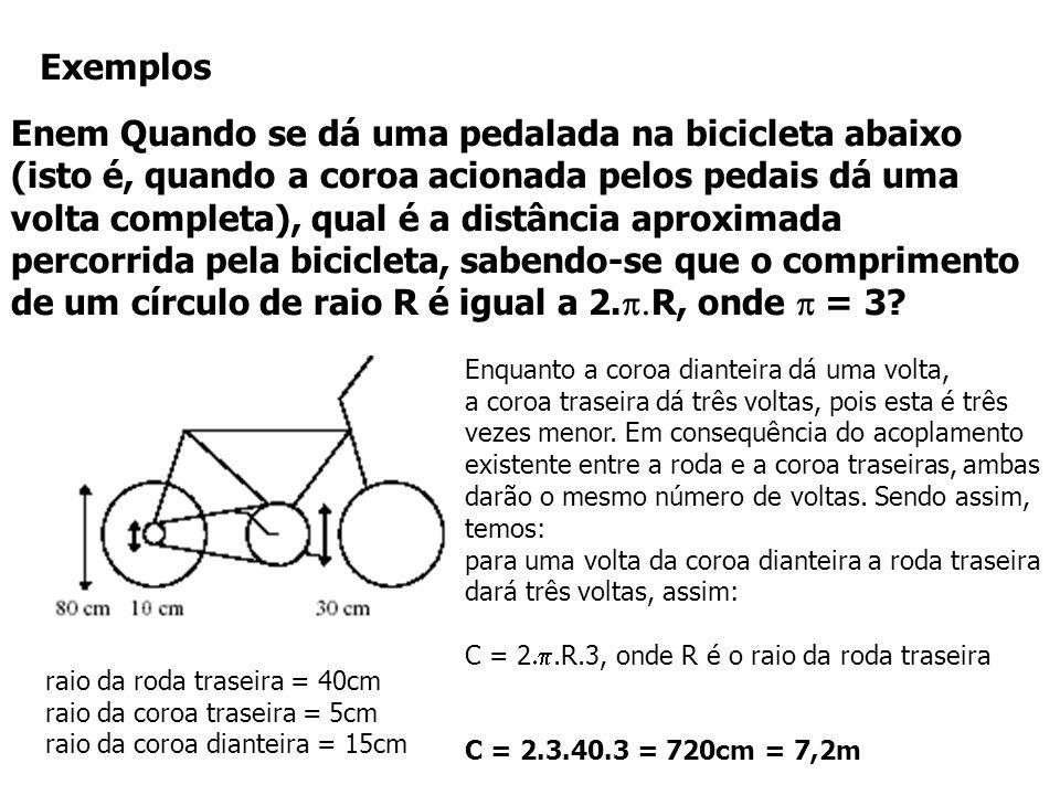 Extra: Três engrenagens giram vinculadas conforme a figura. A engrenagem A gira no sentido horário com velocidade angular 30 rad/s. As polias C, B e A