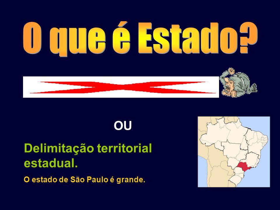 estado ( letra minúscula) = estado físico, estado de espírito OU Delimitação territorial estadual. O estado de São Paulo é grande.