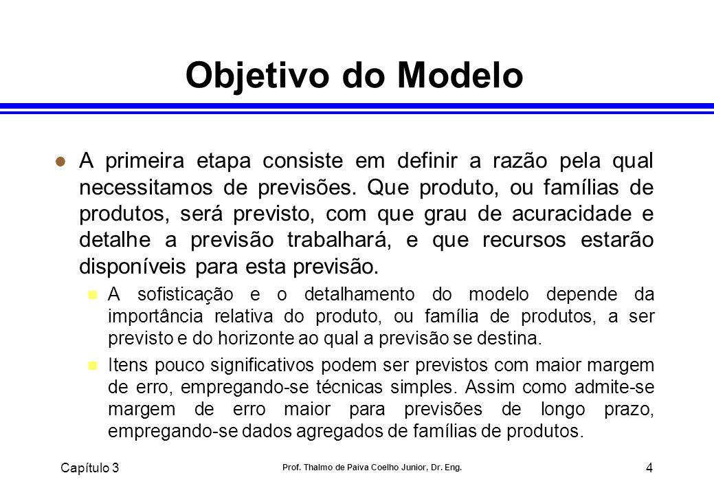 Capítulo 3 Prof. Thalmo de Paiva Coelho Junior, Dr. Eng. 4 Objetivo do Modelo l A primeira etapa consiste em definir a razão pela qual necessitamos de