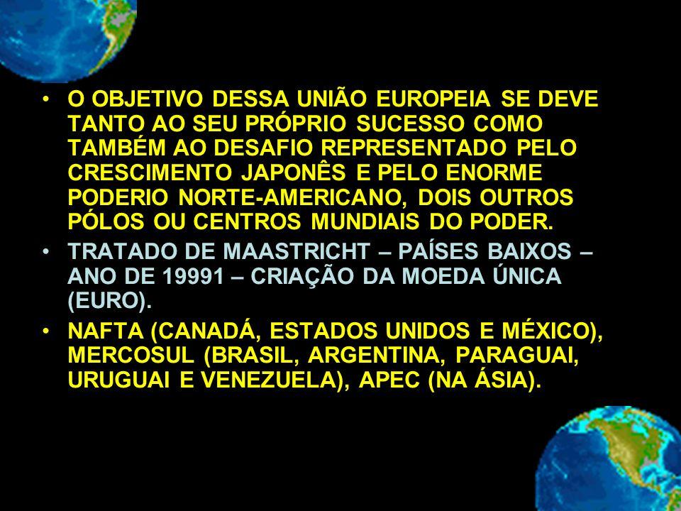 O OBJETIVO DESSA UNIÃO EUROPEIA SE DEVE TANTO AO SEU PRÓPRIO SUCESSO COMO TAMBÉM AO DESAFIO REPRESENTADO PELO CRESCIMENTO JAPONÊS E PELO ENORME PODERI