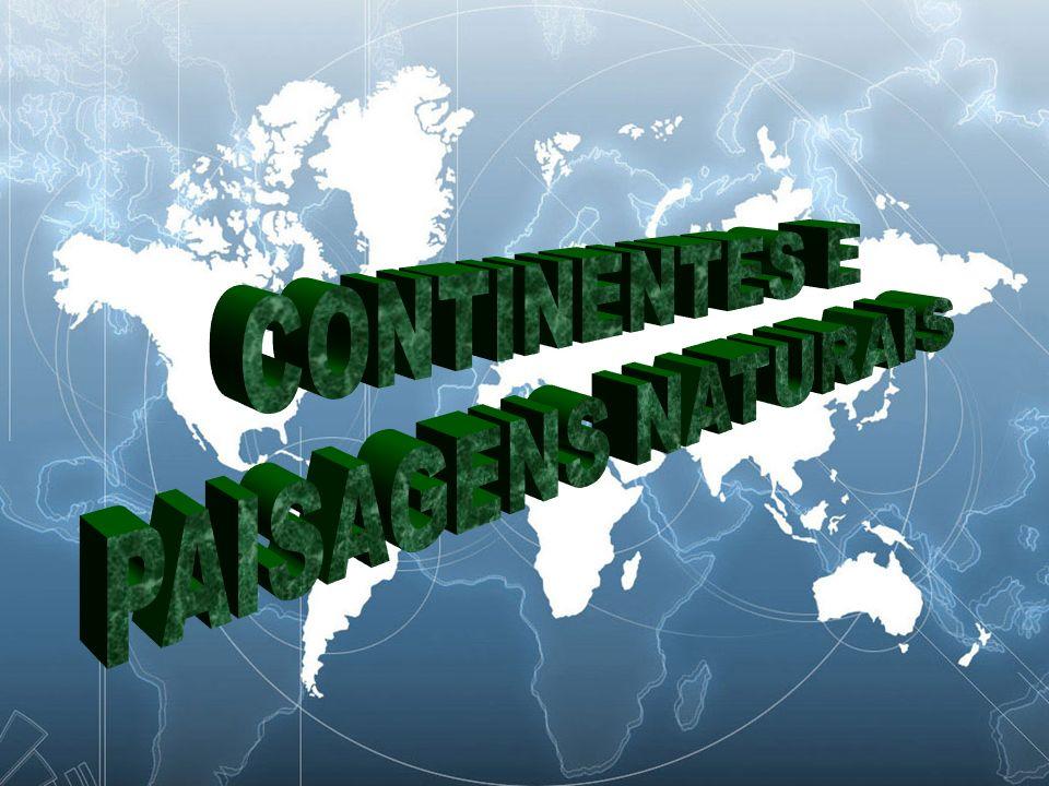 Os continentes originaram-se da divisão da superfície terrestre em partes líquidas e sólidas.
