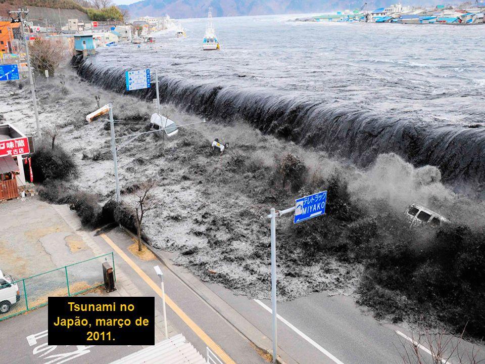 Tsunami no Japão, março de 2011.