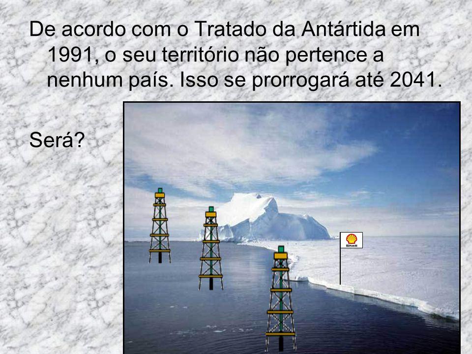 De acordo com o Tratado da Antártida em 1991, o seu território não pertence a nenhum país. Isso se prorrogará até 2041. Será?