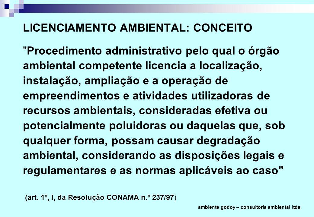 LICENCIAMENTO AMBIENTAL: CONCEITO