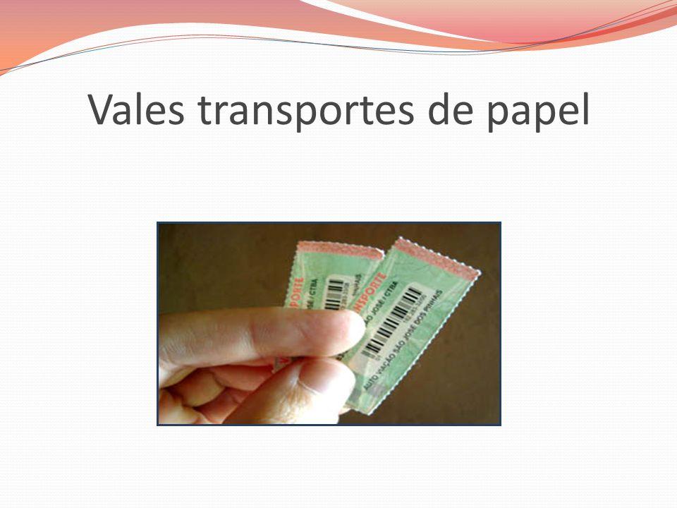 Vales transportes de papel