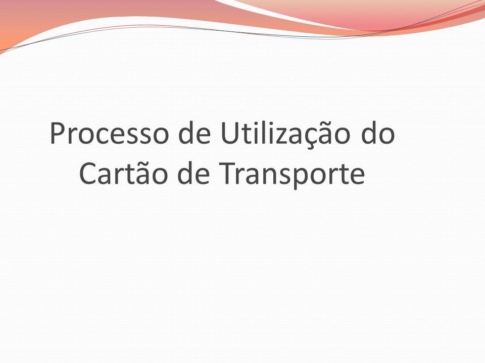 Processo de Utilização do Cartão de Transporte