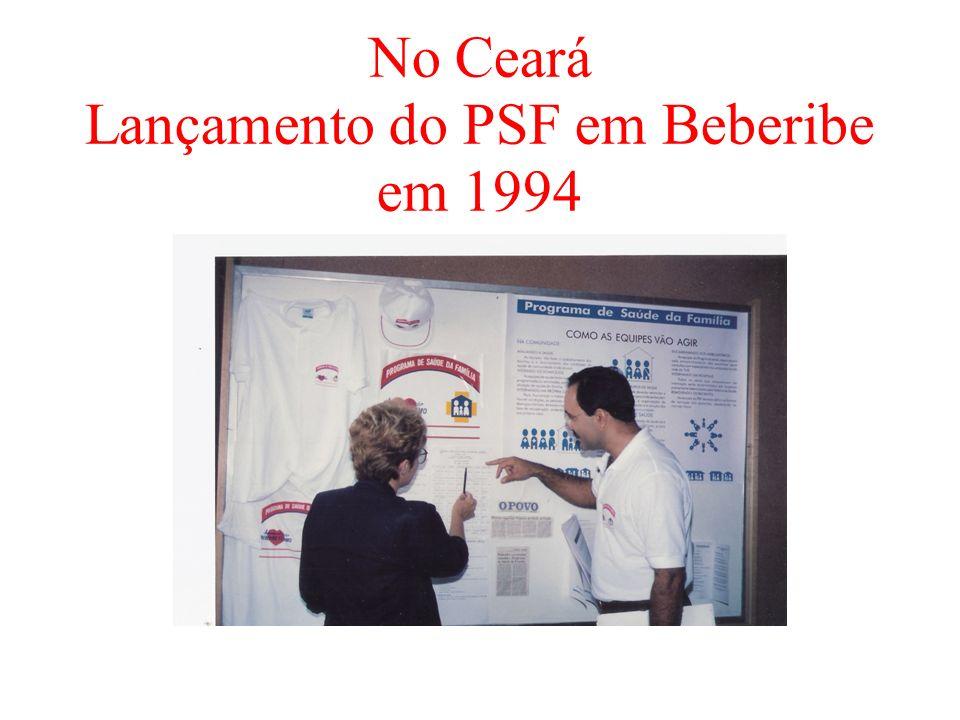 No Ceará Lançamento do PSF em Beberibe em 1994