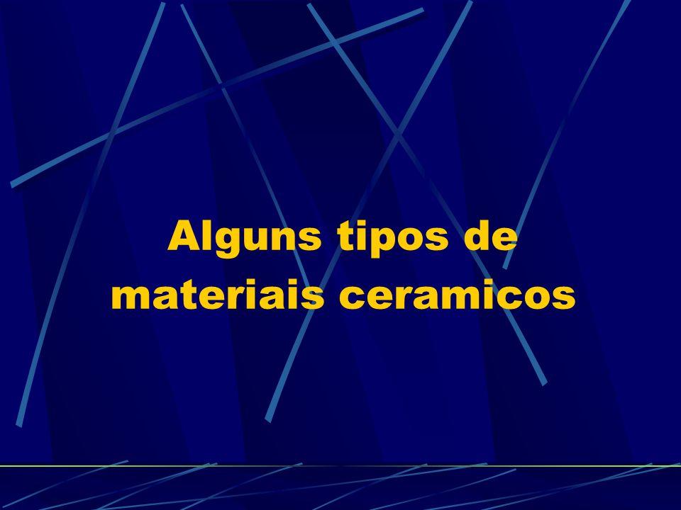 Alguns tipos de materiais ceramicos