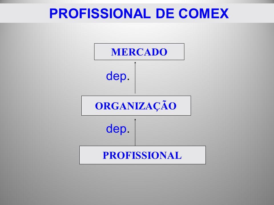 dep. MERCADO ORGANIZAÇÃO PROFISSIONAL PROFISSIONAL DE COMEX