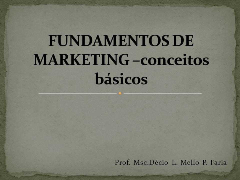 Prof. Msc.Décio L. Mello P. Faria