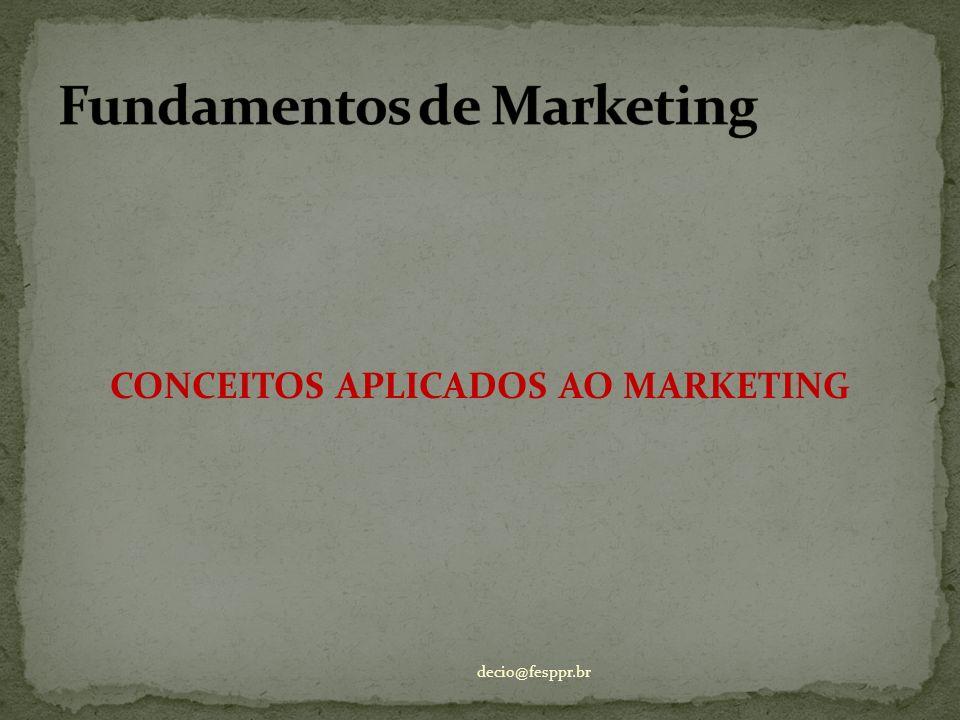 CONCEITOS APLICADOS AO MARKETING decio@fesppr.br