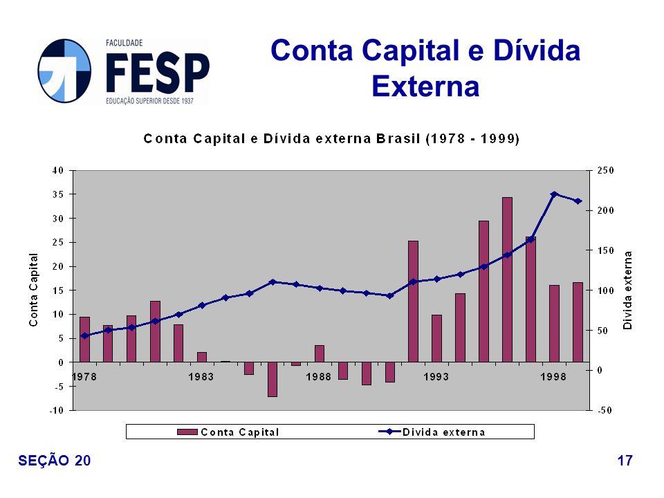 Conta Capital e Dívida Externa 17 SEÇÃO 20