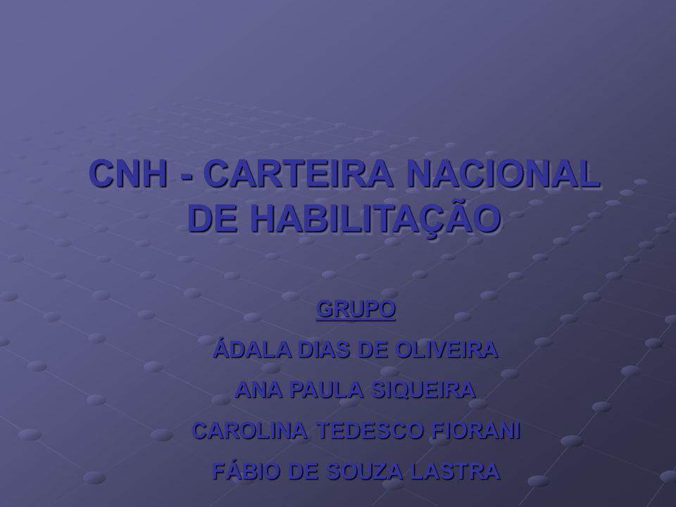 Códigos CFC; Detran; CNH – Carteira Nacional de Habilitação.