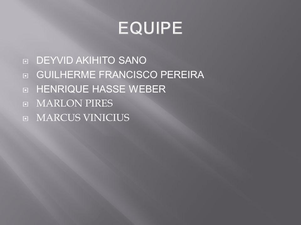 DEYVID AKIHITO SANO GUILHERME FRANCISCO PEREIRA HENRIQUE HASSE WEBER MARLON PIRES MARCUS VINICIUS