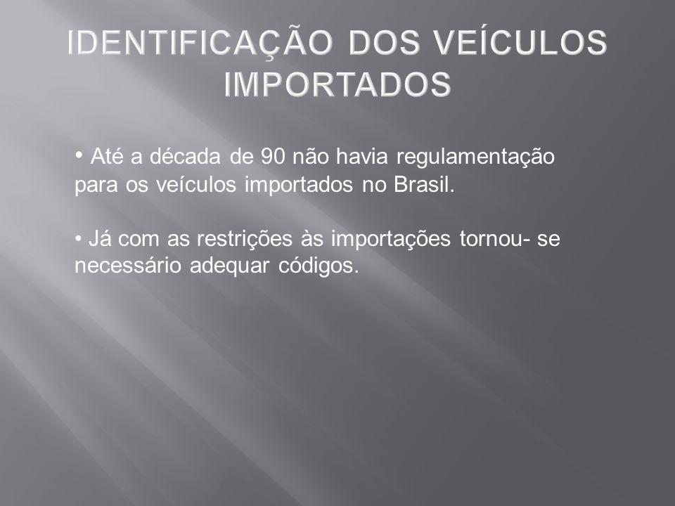 Até a década de 90 não havia regulamentação para os veículos importados no Brasil. Já com as restrições às importações tornou- se necessário adequar c
