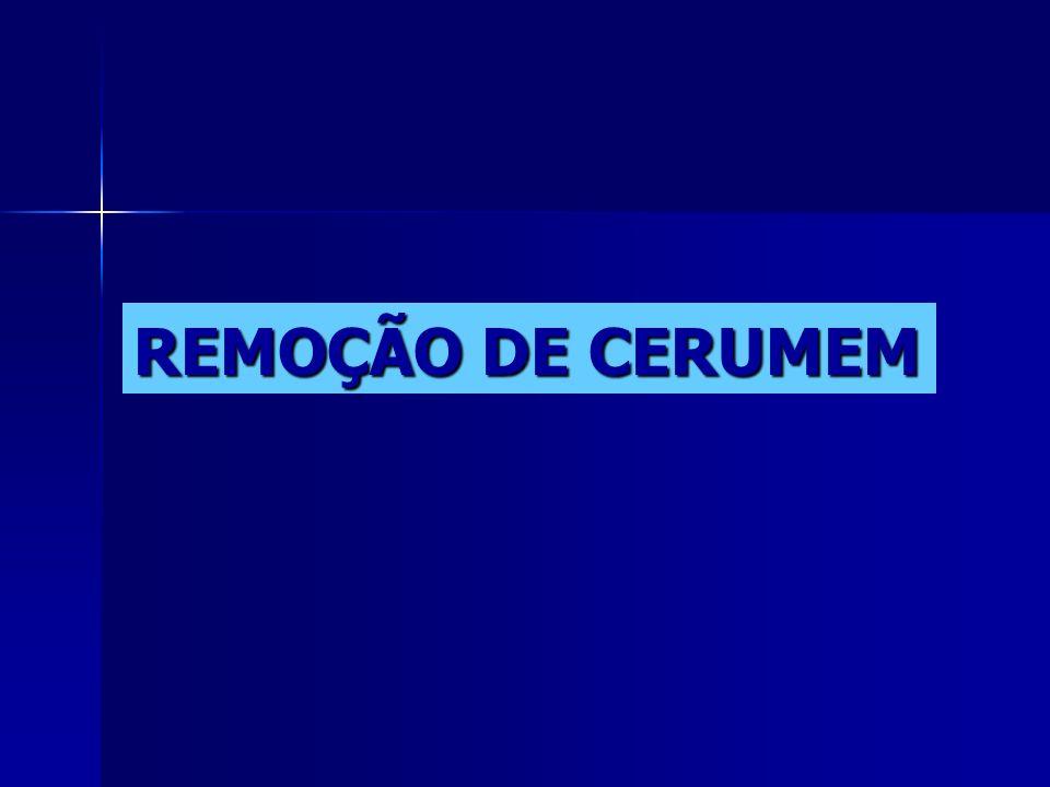 REMOÇÃO DE CERUMEM
