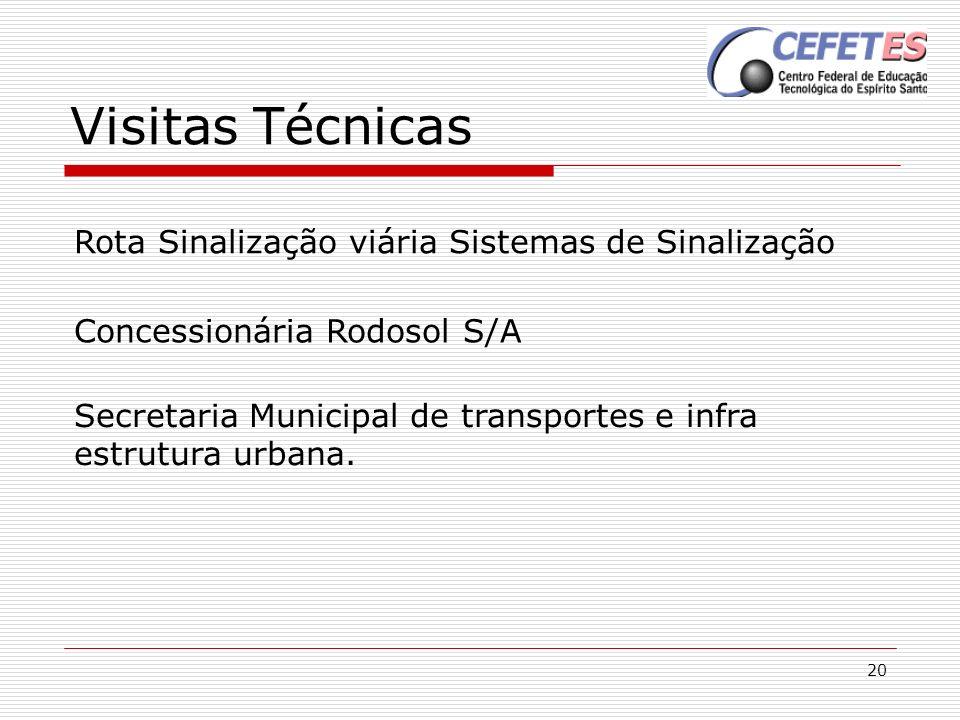 20 Visitas Técnicas Concessionária Rodosol S/A Rota Sinalização viária Sistemas de Sinalização Secretaria Municipal de transportes e infra estrutura u