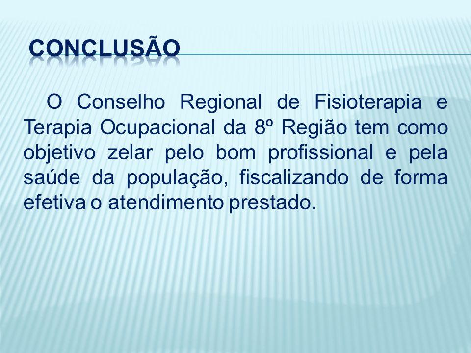 O Conselho Regional de Fisioterapia e Terapia Ocupacional da 8º Região tem como objetivo zelar pelo bom profissional e pela saúde da população, fiscalizando de forma efetiva o atendimento prestado.