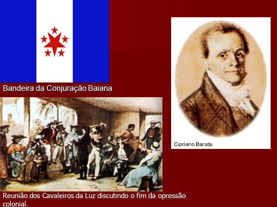 Conjura Baiana ou Revolta dos Alfaiates (1798) Participantes : Participantes : Classes médias urbanas, populares e militares.